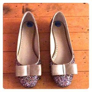 Adrienne Vittadini Multicolor Glitter Flats